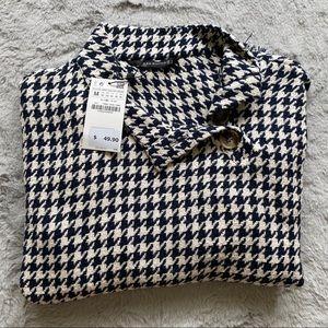 Zara Women   Houndstooth Sweater NWT